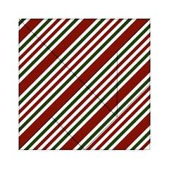 Line Christmas Stripes Acrylic Tangram Puzzle (6  X 6 ) by AnjaniArt