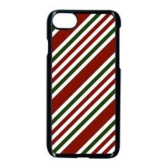 Line Christmas Stripes Apple iPhone 7 Seamless Case (Black)