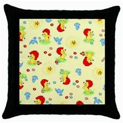 Lion Animals Sun Throw Pillow Case (Black)