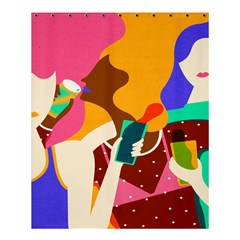Girl Colorful Copy Shower Curtain 60  X 72  (medium)  by AnjaniArt