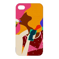 Girl Colorful Copy Apple Iphone 4/4s Premium Hardshell Case by AnjaniArt