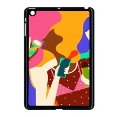 Girl Colorful Copy Apple Ipad Mini Case (black) by AnjaniArt