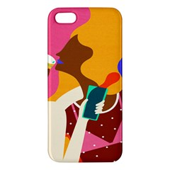 Girl Colorful Copy Iphone 5s/ Se Premium Hardshell Case by AnjaniArt