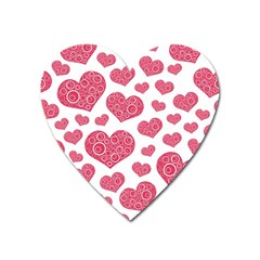 Heart Love Pink Back Heart Magnet by AnjaniArt