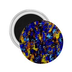 Network Blue Color Abstraction 2 25  Magnets by AnjaniArt