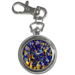 Network Blue Color Abstraction Key Chain Watches by AnjaniArt