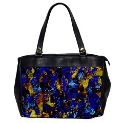 Network Blue Color Abstraction Office Handbags by AnjaniArt