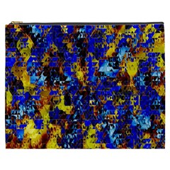 Network Blue Color Abstraction Cosmetic Bag (xxxl)  by AnjaniArt