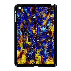 Network Blue Color Abstraction Apple Ipad Mini Case (black) by AnjaniArt