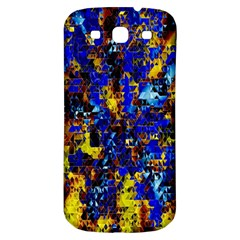Network Blue Color Abstraction Samsung Galaxy S3 S Iii Classic Hardshell Back Case by AnjaniArt