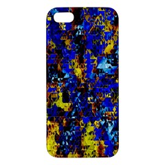 Network Blue Color Abstraction Iphone 5s/ Se Premium Hardshell Case by AnjaniArt