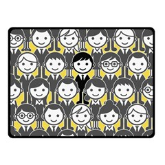 Man Girl Face Standing Double Sided Fleece Blanket (Small)  by AnjaniArt