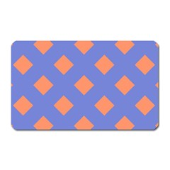 Orange Blue Magnet (rectangular) by AnjaniArt