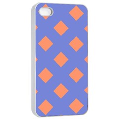 Orange Blue Apple Iphone 4/4s Seamless Case (white) by AnjaniArt