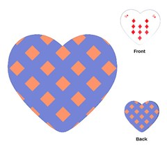 Orange Blue Playing Cards (Heart)