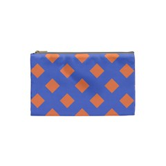 Orange Blue Cosmetic Bag (small)  by AnjaniArt