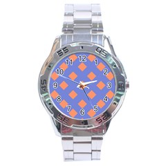 Orange Blue Stainless Steel Analogue Watch by AnjaniArt