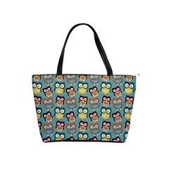 Owl Eye Blue Bird Copy Shoulder Handbags by AnjaniArt