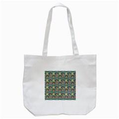 Owl Eye Blue Bird Copy Tote Bag (white) by AnjaniArt
