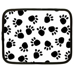 Paws Black Animals Netbook Case (xxl)  by AnjaniArt