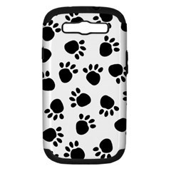 Paws Black Animals Samsung Galaxy S III Hardshell Case (PC+Silicone) by AnjaniArt