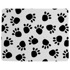 Paws Black Animals Jigsaw Puzzle Photo Stand (Rectangular) by AnjaniArt