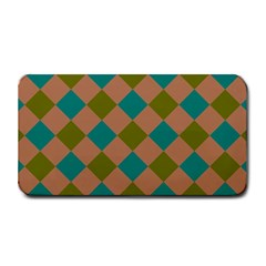 Plaid Box Brown Blue Medium Bar Mats by AnjaniArt