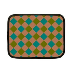 Plaid Box Brown Blue Netbook Case (small)  by AnjaniArt