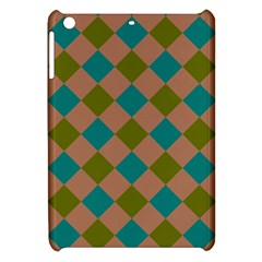 Plaid Box Brown Blue Apple Ipad Mini Hardshell Case by AnjaniArt