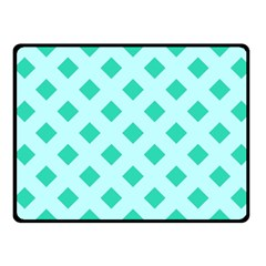 Plaid Blue Box Fleece Blanket (small) by AnjaniArt