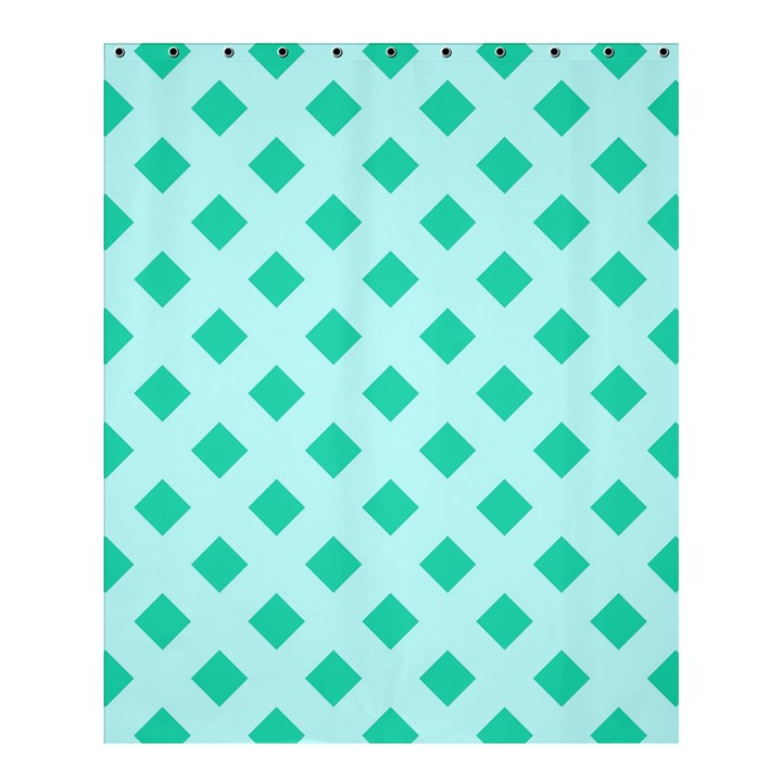 Plaid Blue Box Shower Curtain 60  x 72  (Medium)