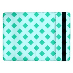 Plaid Blue Box Samsung Galaxy Tab Pro 12.2  Flip Case by AnjaniArt