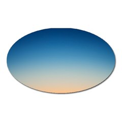 Rainbow Blue Orange Purple Oval Magnet by AnjaniArt