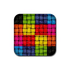 Pinterest Water Colorfull Rubber Coaster (square)