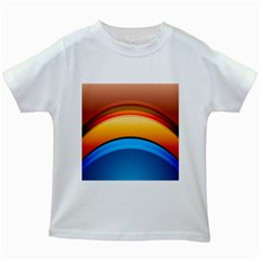 Rainbow Color Kids White T Shirts by AnjaniArt