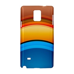 Rainbow Color Samsung Galaxy Note 4 Hardshell Case by AnjaniArt