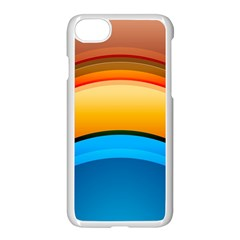 Rainbow Color Apple iPhone 7 Seamless Case (White) by AnjaniArt