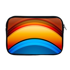 Rainbow Color Apple Macbook Pro 17  Zipper Case by AnjaniArt