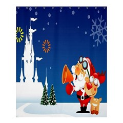 Santa Claus Reindeer Horn Castle Trees Christmas Holiday Shower Curtain 60  X 72  (medium)  by AnjaniArt
