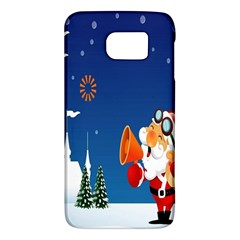 Santa Claus Reindeer Horn Castle Trees Christmas Holiday Galaxy S6 by AnjaniArt