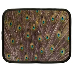 Purple Peacock Feather Wallpaper Netbook Case (xxl)  by AnjaniArt