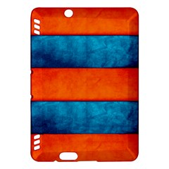 Red Blue Kindle Fire HDX Hardshell Case by AnjaniArt