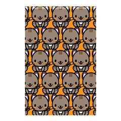 Sitcat Orange Brown Shower Curtain 48  X 72  (small)  by AnjaniArt