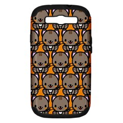 Sitcat Orange Brown Samsung Galaxy S Iii Hardshell Case (pc+silicone) by AnjaniArt