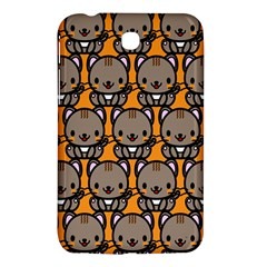 Sitcat Orange Brown Samsung Galaxy Tab 3 (7 ) P3200 Hardshell Case  by AnjaniArt