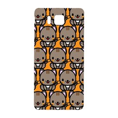 Sitcat Orange Brown Samsung Galaxy Alpha Hardshell Back Case by AnjaniArt