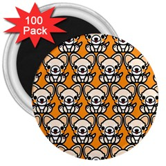Sitchihuahua Cute Face Dog Chihuahua 3  Magnets (100 pack)