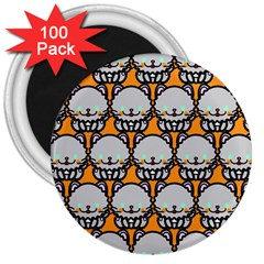 Sitpersian Cat Orange 3  Magnets (100 pack) by AnjaniArt