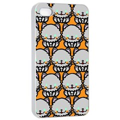 Sitpersian Cat Orange Apple Iphone 4/4s Seamless Case (white) by AnjaniArt