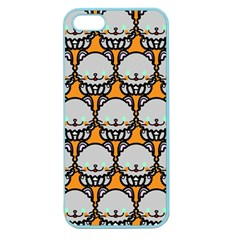 Sitpersian Cat Orange Apple Seamless Iphone 5 Case (color) by AnjaniArt